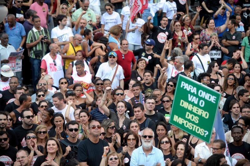 Manifestação dos servidores do Rio de Janeiro
